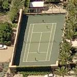 Playing tennis at Cher's house