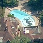 Pool with Batman logo