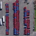 CNH Tractors Waiting to be Shipped (Bing Maps)