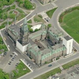 Canadian Parliament West Block (Birds Eye)