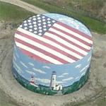 Painted storage tank