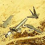 Two abandoned B-52s in the desert (Birds Eye)