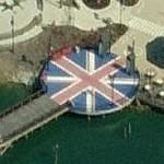 Circular Union Jack in former Hard Rock Park (Birds Eye)