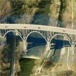 Bridge targeted by anarchists (01 May 2012) (Birds Eye)