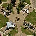 Jets on static display at Luke AFB (Bing Maps)