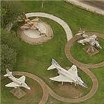 Skyhawk, Phantom, and Harrier on static display (Birds Eye)
