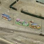 Mardis Gras parade floats? (Birds Eye)