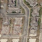 Destroyed neighborhood by Hurricane Katrina