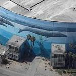 Wyland Whale Mural - 'Planet Ocean' - Long Beach Convention Center (Birds Eye)