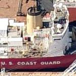 US Coast Guard Ice Breaker 'Polar Star' (WAGB-10) in dry dock (Birds Eye)