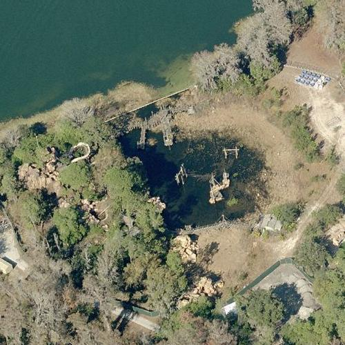 Abandoned Disney Water park - River Country (Birds Eye)