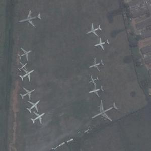 Aircraft boneyard at Murtala Muhammed International Airport (Bing Maps)