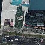 35-foot tall Coca-Cola Bottle at Gameworks (Birds Eye)