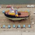 Vessels on Synchrolift Drydock (Birds Eye)
