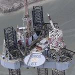 ENSCO 67 Jack-up oil rig (Birds Eye)