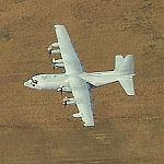 Airplane - C-130 Taking Off (Birds Eye)