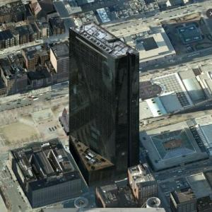 'John Hancock Tower' by I. M. Pei (tallest building in Massachusetts) (Birds Eye)