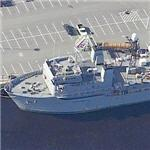 USS Stalwert (T-AGOS 1) Ocean Surveillance Ship (Birds Eye)