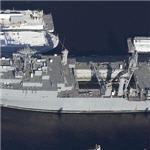 USS Portland (LSD-37) Landing Ship, Dock (Birds Eye)