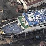 Delaware River & Bay Authority Ferry in drydock (Birds Eye)