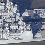 USS Anzio (CD-68) & USS Cape St. George (CG-71) Ticonderoga Class Cruisers (Birds Eye)