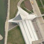 Burke Brise Soleil at the Milwaukee Art Museum (Bing Maps)