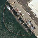Los Angeles class nuclear submarine (Bing Maps)