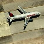 America West plane on the Runway at McCarran International Airport (Birds Eye)