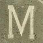 Hillside letter M