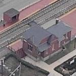 Laurel Train Station (B & O Railroad Depot) (Birds Eye)