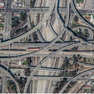 "110/105 Interchange (""True Detective"") (Bing Maps)"