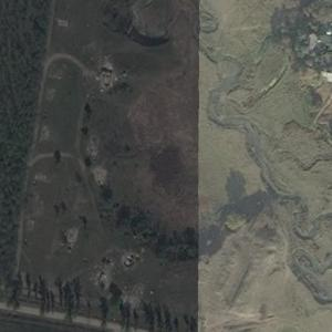 Aeroflot Flight 4225 crash site (Bing Maps)