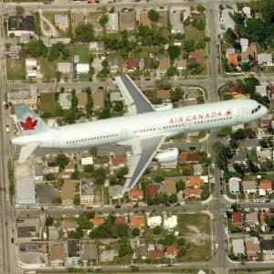 Air Canada Airbus A321-211 in flight (Birds Eye)