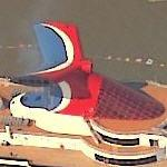 Carnival Lines ship in New York (Birds Eye)