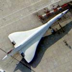 Concorde parked at Heathrow Airport (Bing Maps)