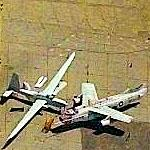 Grob G-520 Strato (Egret) and Douglas A-3 Skywarrior at Van Nuys (Birds Eye)