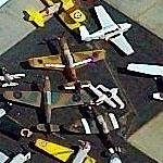 Super Collection of Planes at Santa Monica Airport (Birds Eye)