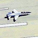 Airplane - T-38 Talon Landing (Birds Eye)