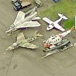 Vintage Aircraft at Olympia Municipal Airport (Birds Eye)