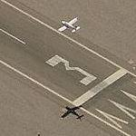 Airplane Approaching Scottsdale Municipal Airport (Birds Eye)