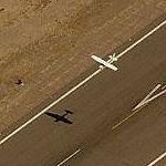 Airplane Landing At Phoenix Goodyear Airport (Birds Eye)