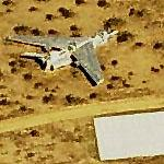 F-8 Carcass in desert (Birds Eye)