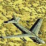B-47 Stratojet on desert floor (Birds Eye)