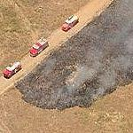 Brush Fire At Camp Pendleton (Birds Eye)