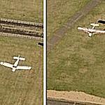 Two Airplanes Landing On Parallel Runways Simultaneously