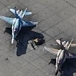 F/A-18C Hornets of an Aggressor Squadron at NAS Oceana (Birds Eye)