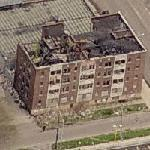 Burned appartment building (Birds Eye)