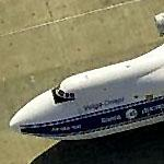 Antonov-124 at Moffett Field (Birds Eye)