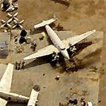 Lockheed C-60 Lodestars at Desolate Aircraft Boneyard (Birds Eye)