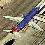 Airplane landing at McCarran (Birds Eye)